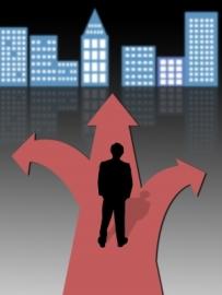 career crossroads graphic